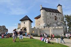Schloss von Bobolice, Polen Stockfotografie