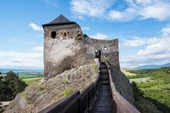 Schloss von Boldogko vom Wachturm in Ungarn Lizenzfreie Stockfotografie