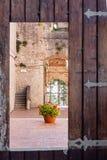 Schloss von Campobasso, bestimmte Tür Lizenzfreies Stockfoto