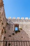 Schloss von Campobasso, Verzahnung Stockfoto