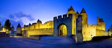 Schloss von Carcassonne Lizenzfreie Stockfotos