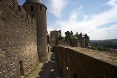Schloss von Carcassonne Stockbild