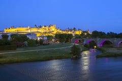 Schloss von Carcassonne Stockfotos