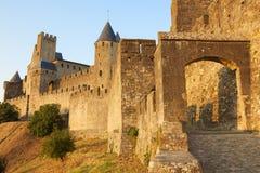 Schloss von Carcassonne Lizenzfreies Stockbild