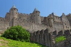Schloss von Carcassonne, Frankreich. Lizenzfreies Stockfoto