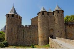 Schloss von Carcassonne, Frankreich Lizenzfreies Stockbild