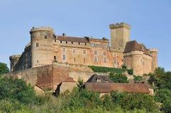 Schloss von Castelnau-Bretenoux, Prudhomat, Frankreich lizenzfreies stockfoto