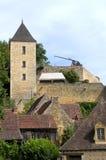 Schloss von Castelnaud Stockfotos