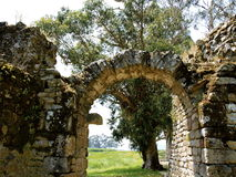 Schloss von Catoira - Pontevedra Stockbild