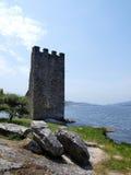 Schloss von Catoira - Pontevedra Stockfotografie