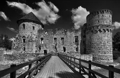 Schloss von Cesis Stockbilder