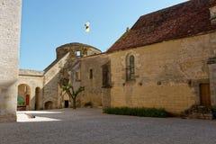 Schloss von Châteauneuf en Auxois Stockbilder