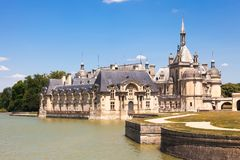 Schloss von Chantilly, Picardie Stockbilder