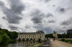 Schloss von Chenonceau, die Loire-Region, Frankreich 27. Juni 2017 Schnappschuß Stockbilder