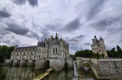 Schloss von Chenonceau, die Loire-Region, Frankreich 27. Juni 2017 Schnappschuß Lizenzfreie Stockbilder