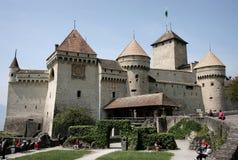 Schloss von Chillon, die Schweiz Stockbilder
