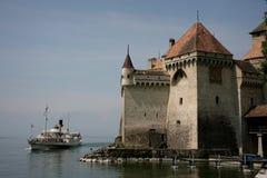 Schloss von Chillon, die Schweiz Lizenzfreies Stockbild