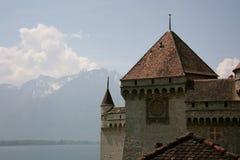 Schloss von Chillon, die Schweiz Lizenzfreies Stockfoto