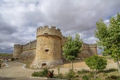 Schloss von Grajal de Campos in der Provinz von Leon Spain stockfotografie