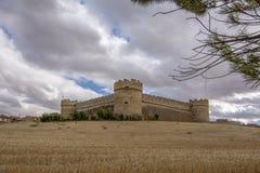 Schloss von Grajal de Campos in der Provinz von Leon, Spanien stockfotografie
