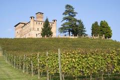 Schloss von Grinzane Cavour Stockfotos