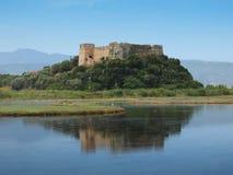Schloss von Grivas (Kastro Griva) in Lefkas, Griechenland lizenzfreie stockfotografie