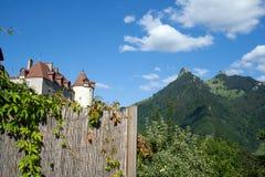 Schloss von Gruyeres stockfotos