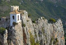 Schloss von Guadelest in Spanien nahe Benidorm stockbild
