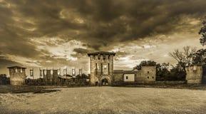 Schloss von Legnano Stockfotos