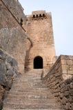Schloss von Lindos Lizenzfreie Stockfotografie