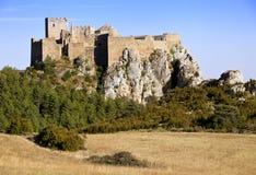 Schloss von Loarre, Aragon, Spanien Stockfotografie
