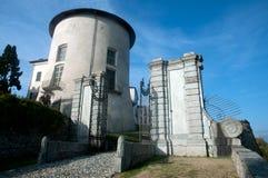 Schloss von Masino, von Caravino u. von x28; Italy& x29; Lizenzfreies Stockbild