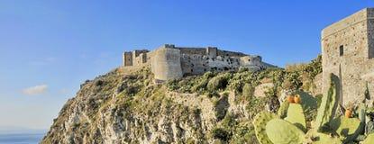 Schloss von Milazzo Stockbilder