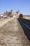 Straße zum Schloss lizenzfreie stockfotos