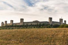 Schloss von Monteriggioni, Toskana. Lizenzfreies Stockbild