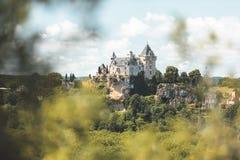 Schloss von Montfort in Dordogne, Frankreich stockfotografie