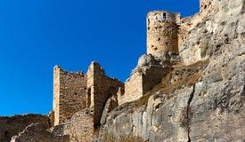 Schloss von Morella spanien Stockbild
