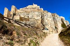 Schloss von Morella spanien Lizenzfreies Stockbild