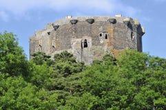 Schloss von Murol in Frankreich stockbild
