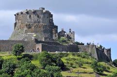 Schloss von Murol in Mittelfrankreich lizenzfreies stockfoto