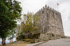 Schloss von PÃ-³ voa de Lanhoso stockfotografie