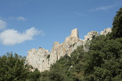 Schloss von Peyrepertuse Stockfotografie