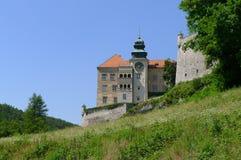 Schloss von Pieskowa Skala Stockfoto