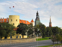 Schloss von Riga Stockfotos