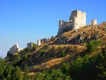 Schloss von Rocca Calascio, Abruzzo Stockbilder