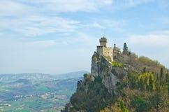 Schloss von San Marino stockbild