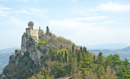 Schloss von San Marino lizenzfreies stockbild