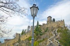 Schloss von San Marino lizenzfreie stockbilder