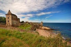 Schloss von Str. Andrews, Schottland Lizenzfreie Stockbilder