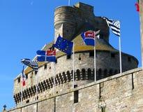 Schloss von Str. Malo Stockfoto